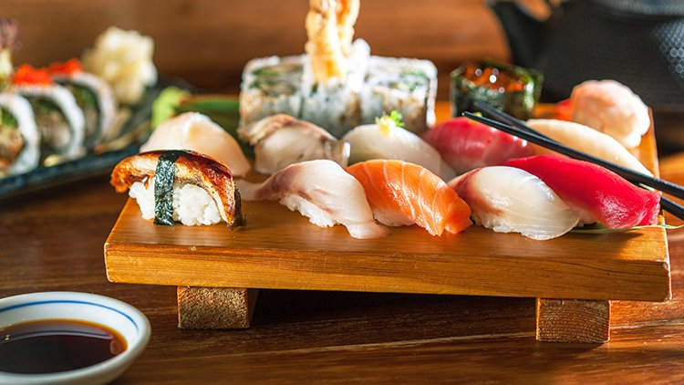 Say yes to yellowtail tuna sushi around the UK