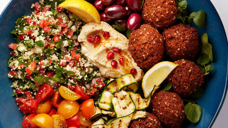 Vibrant Veggie Lebanese Falafel and Tagine Dishes