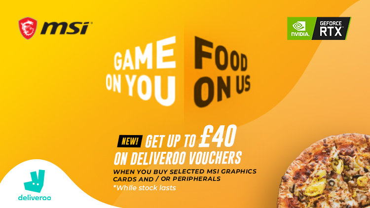 Game on you, food on us - MSI promotion