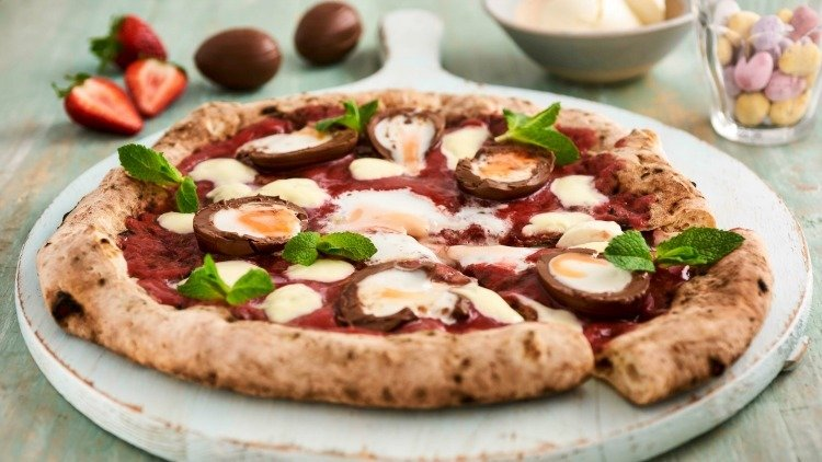 Presenting The Creme Egg Pizza