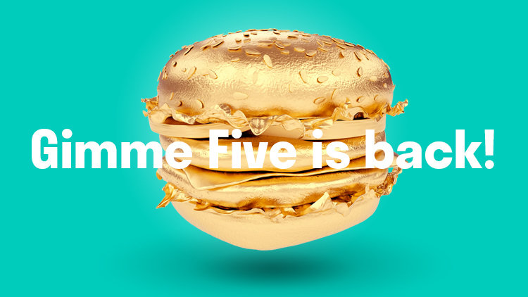 Order Five Guys on Deliveroo for the chance to win five grand